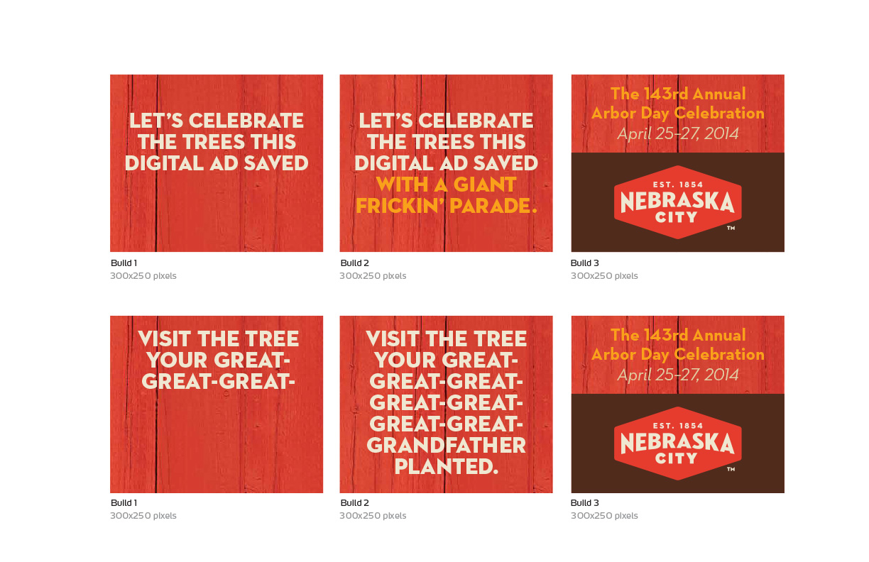 Nebraska City Arbor Day banners