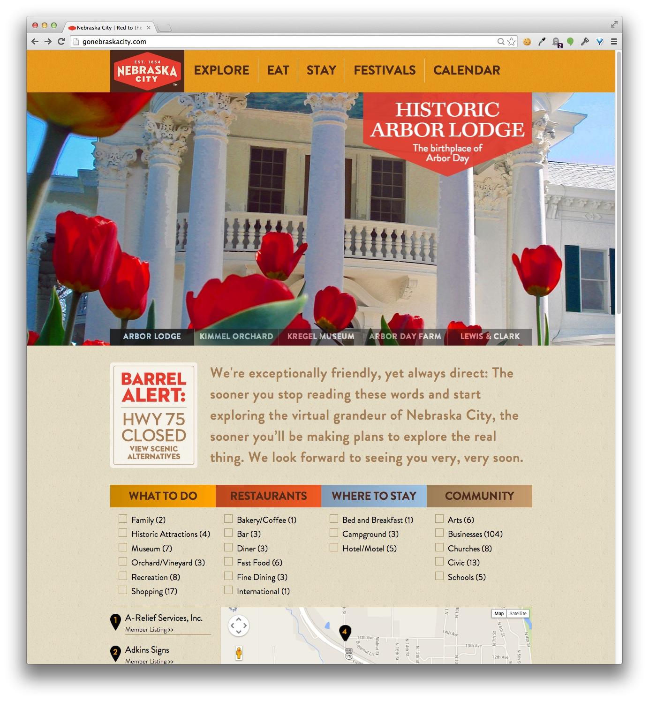 GoNebraskaCity.com home page