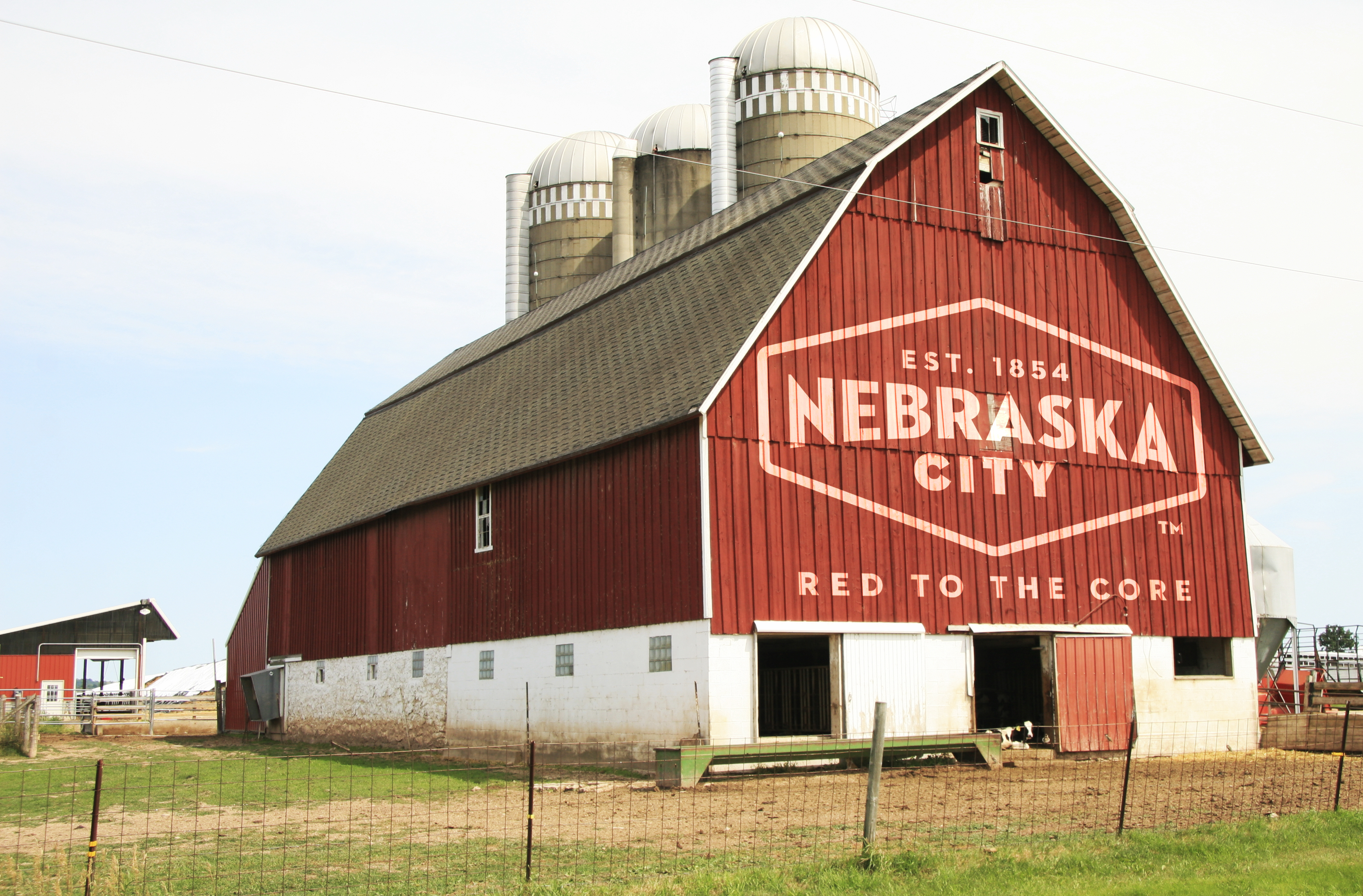 Nebraska City logo on barn