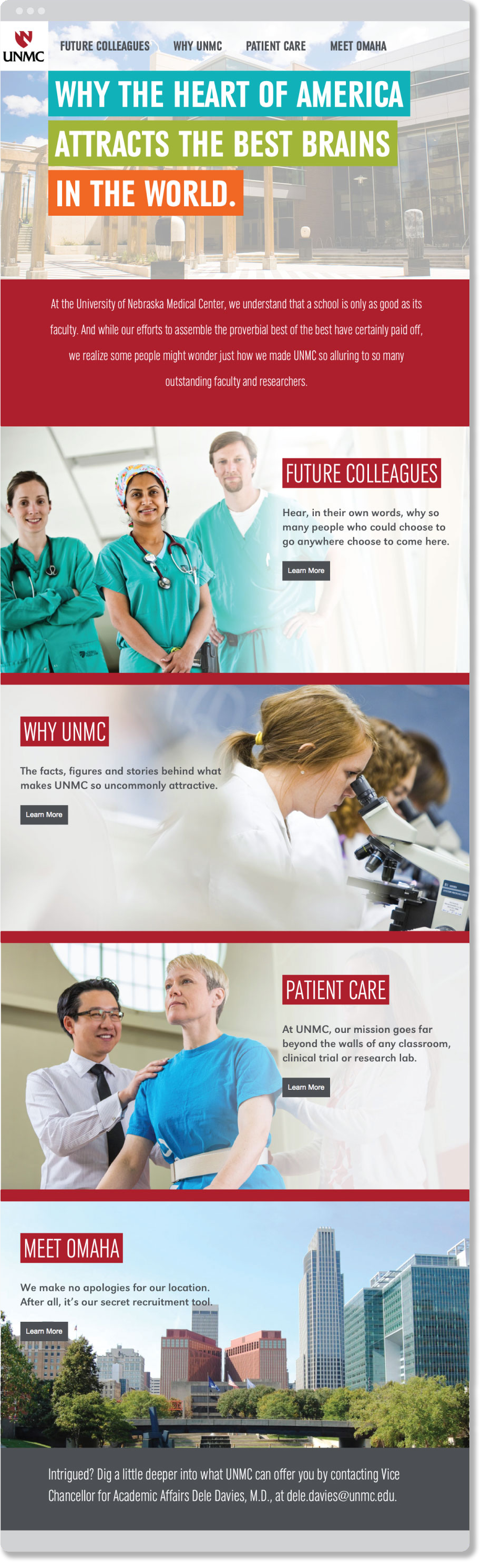 Why UNMC home page