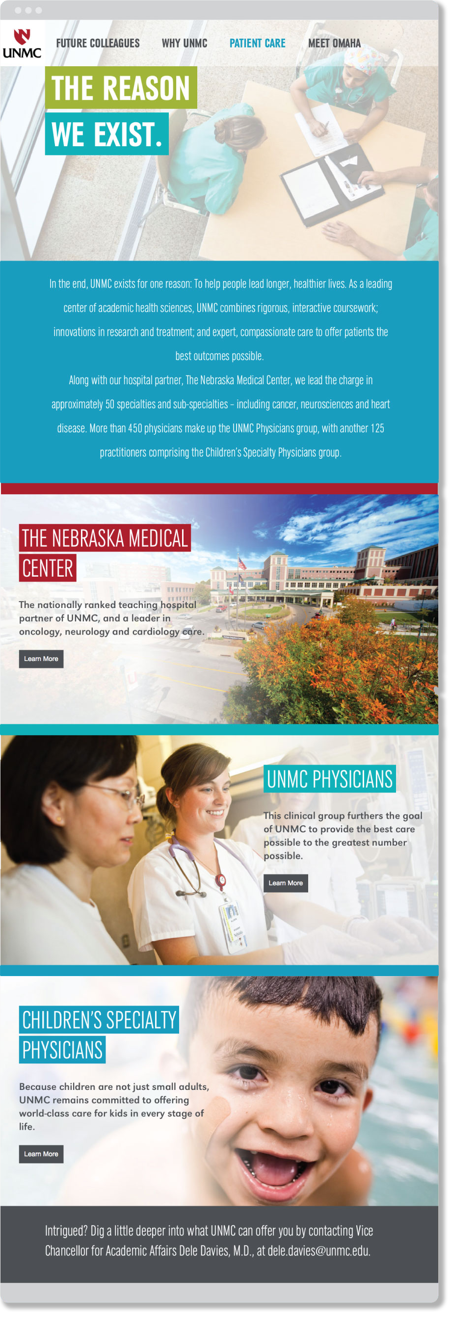 Why UNMC patient care